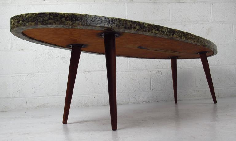Vintage Modern Oval Coffee Table