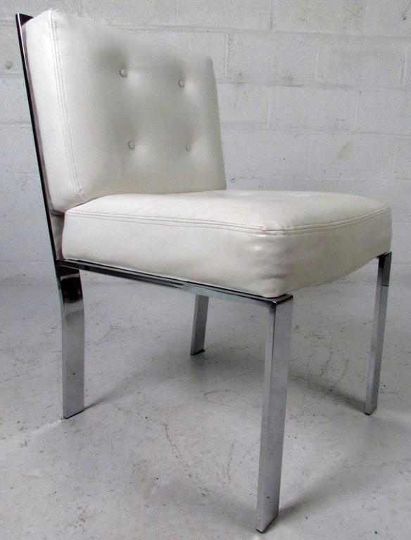 Mid-Century Modern Dining Chairs attributed to Milo Baughman For Sale 3