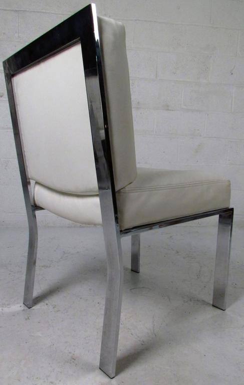 Mid-Century Modern Dining Chairs attributed to Milo Baughman For Sale 2