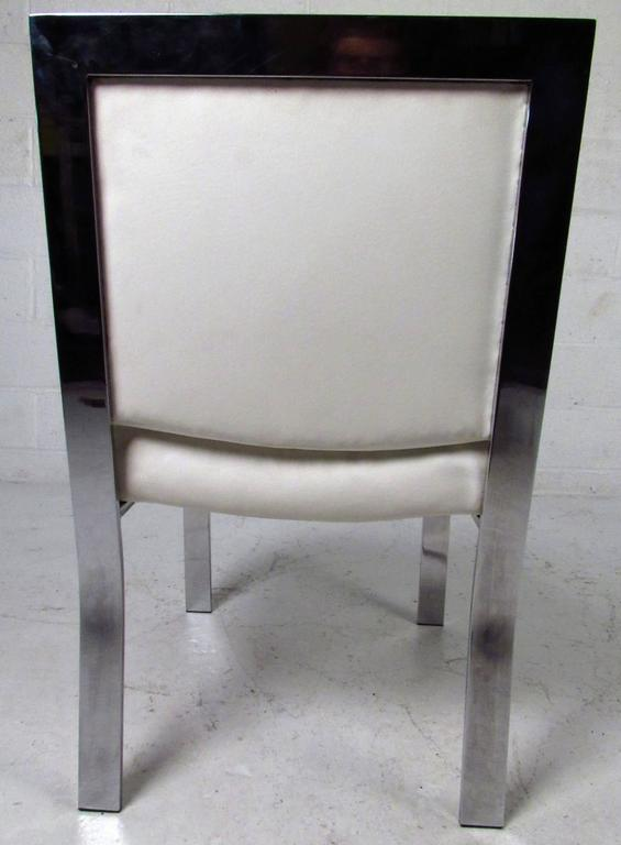 Mid-Century Modern Dining Chairs attributed to Milo Baughman For Sale 4