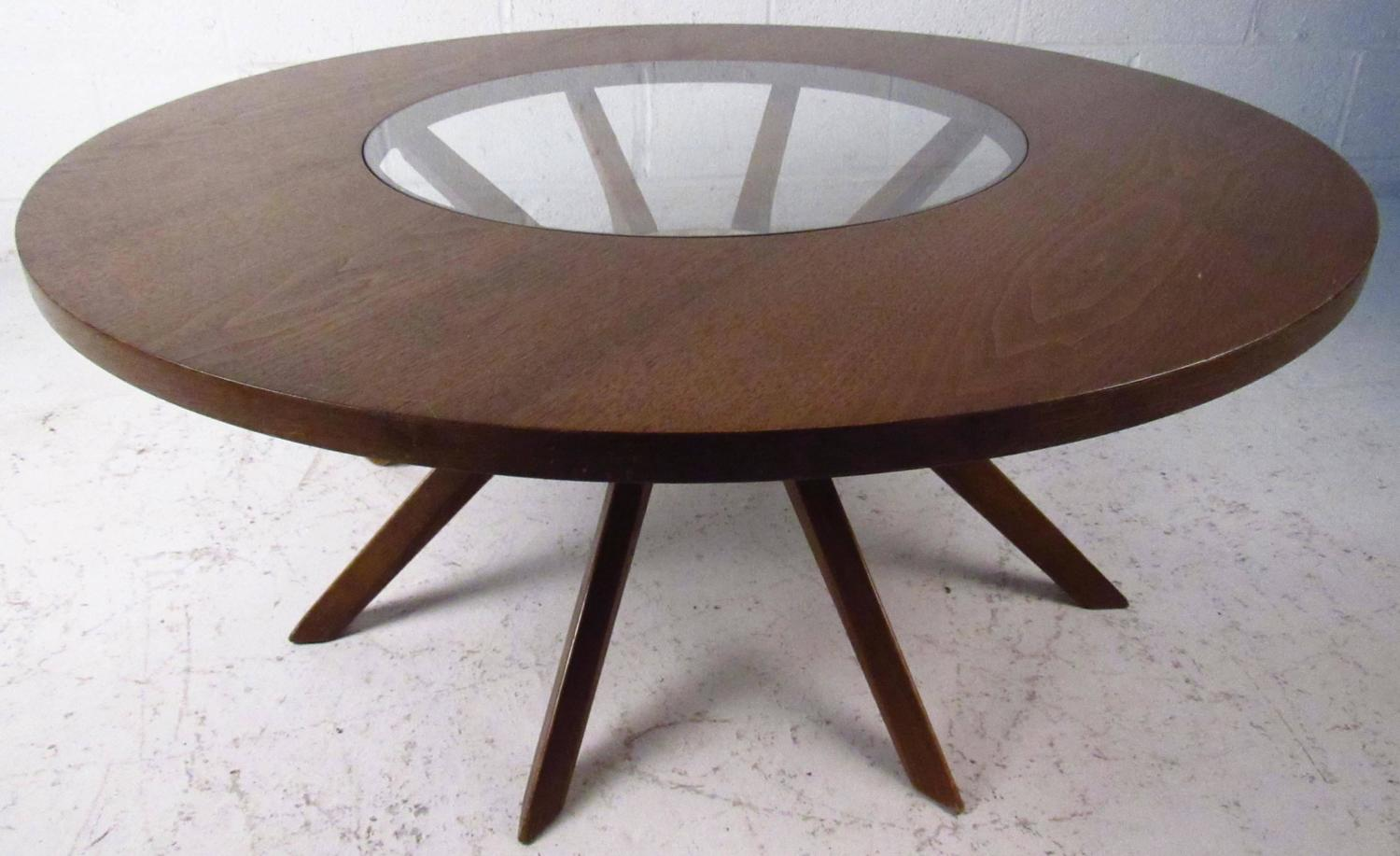 Mid Century Modern Broyhill Brasilia Cathedral Coffee Table For Sale At 1stdibs
