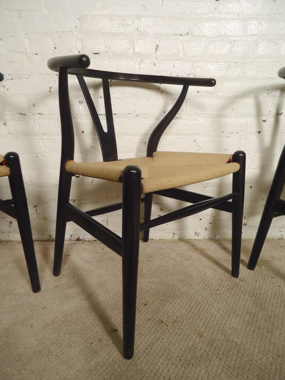 Set of Four Wegner Wishbone Chairs In Good Condition For Sale In Brooklyn, NY