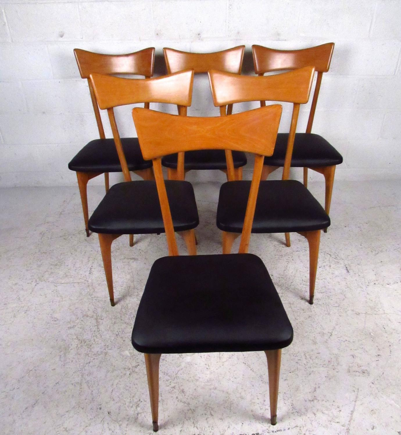 Set Of Mid Century Modern Italian Dining Chairs By Ico Parisi For Sale At 1st