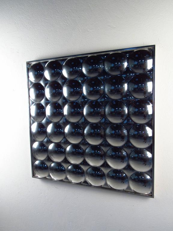 Midcentury Style midcentury style pop art bubble mirror in the style of verner
