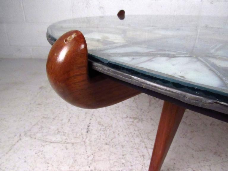 Mid-Century Modern Walker Weed Stained Glass Coffee Table For Sale 3