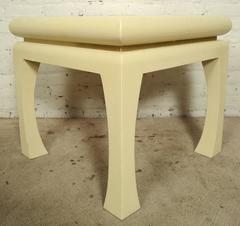 Karl Springer Grass Cloth Table