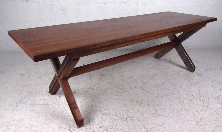 Unique Farm Style Coffee Table In Rosewood For 2