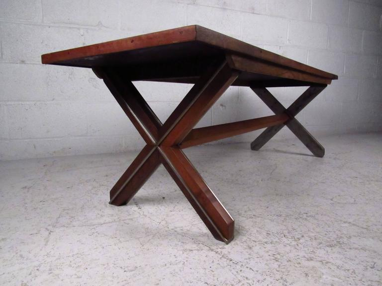 Unique Farm Style Coffee Table In Rosewood For Sale At 1stdibs