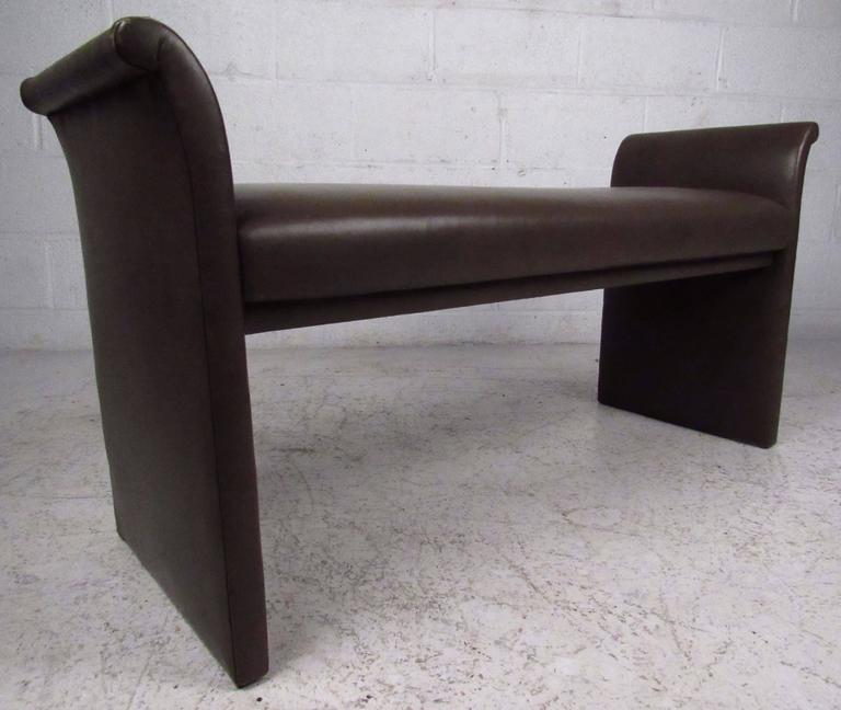 Mid-Century Modern Vinyl Window Bench For Sale 3