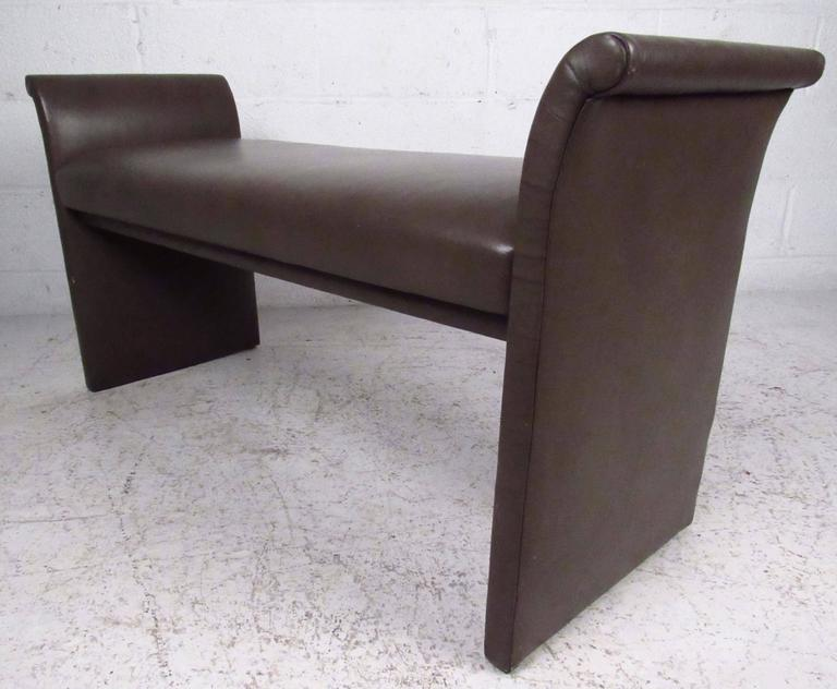 Mid-20th Century Mid-Century Modern Vinyl Window Bench For Sale