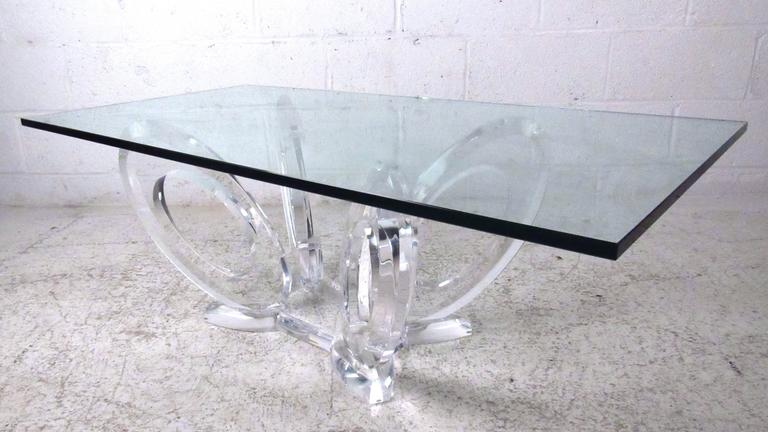 Midcentury style sculpted lucite coffee table by mikhail for Coffee table 40 x 24
