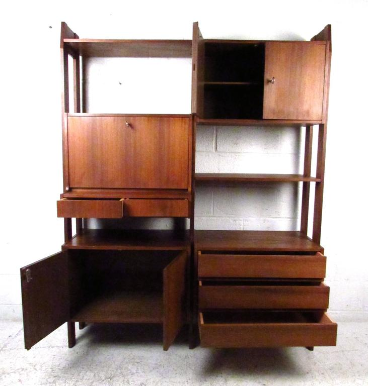 Mid century modern modular wall unit for ello for sale at for Mid century modern modular homes