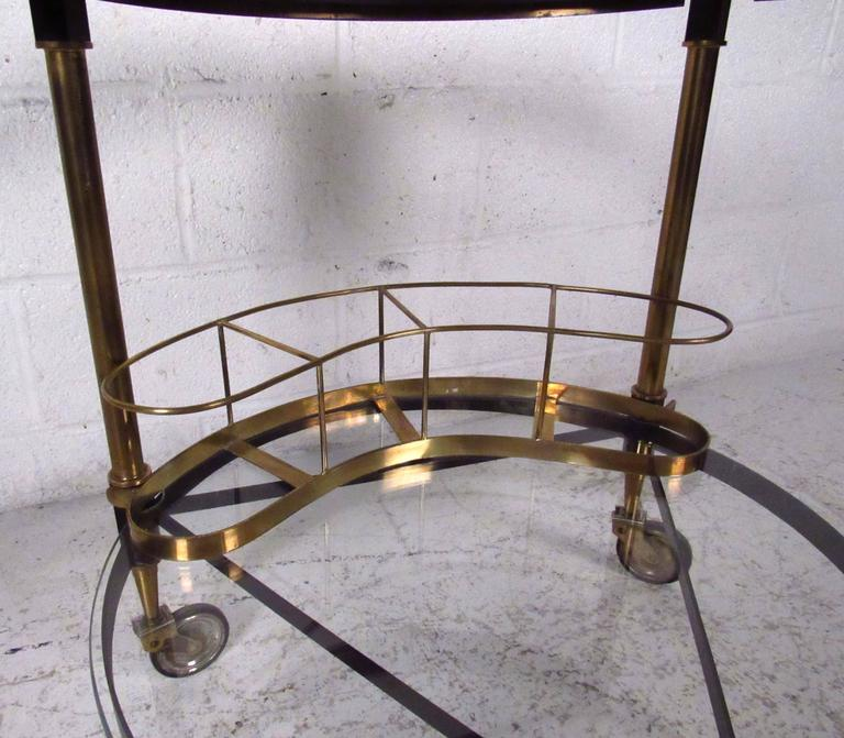 Mid-20th Century Italian Modern Bar Cart in Iron and Brass For Sale