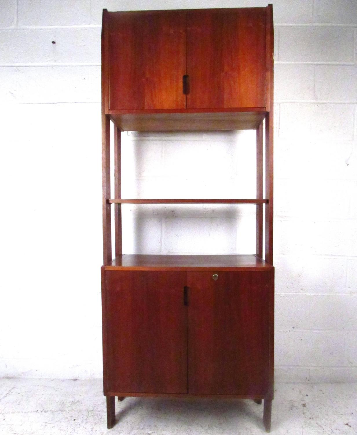 Mid-Century Modern Freestanding Bookshelf with Cabinet For Sale at ...
