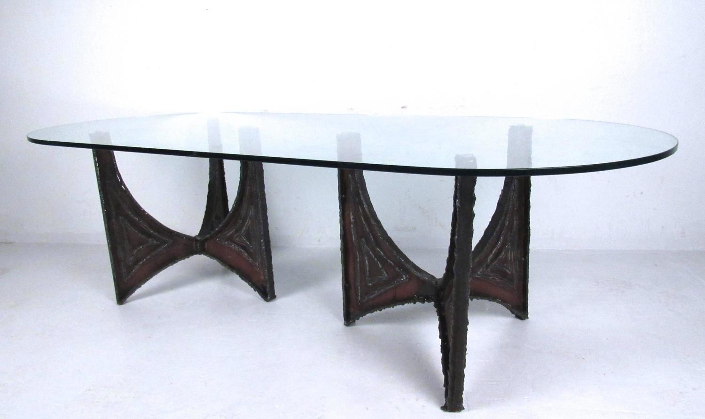 Unique paul evans style brutalist cocktail table for sale for Unusual cocktail tables