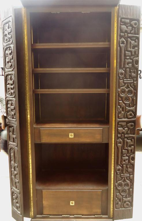 vintage cabinet midcentury sculpted front cabinet by witco for 27968