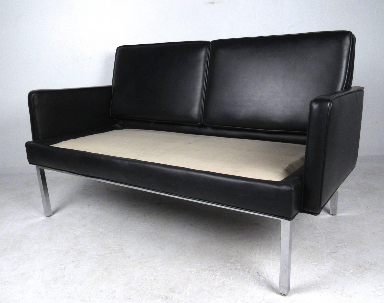 Mid Century Modern Knoll Style Loveseat Sofa At 1stdibs