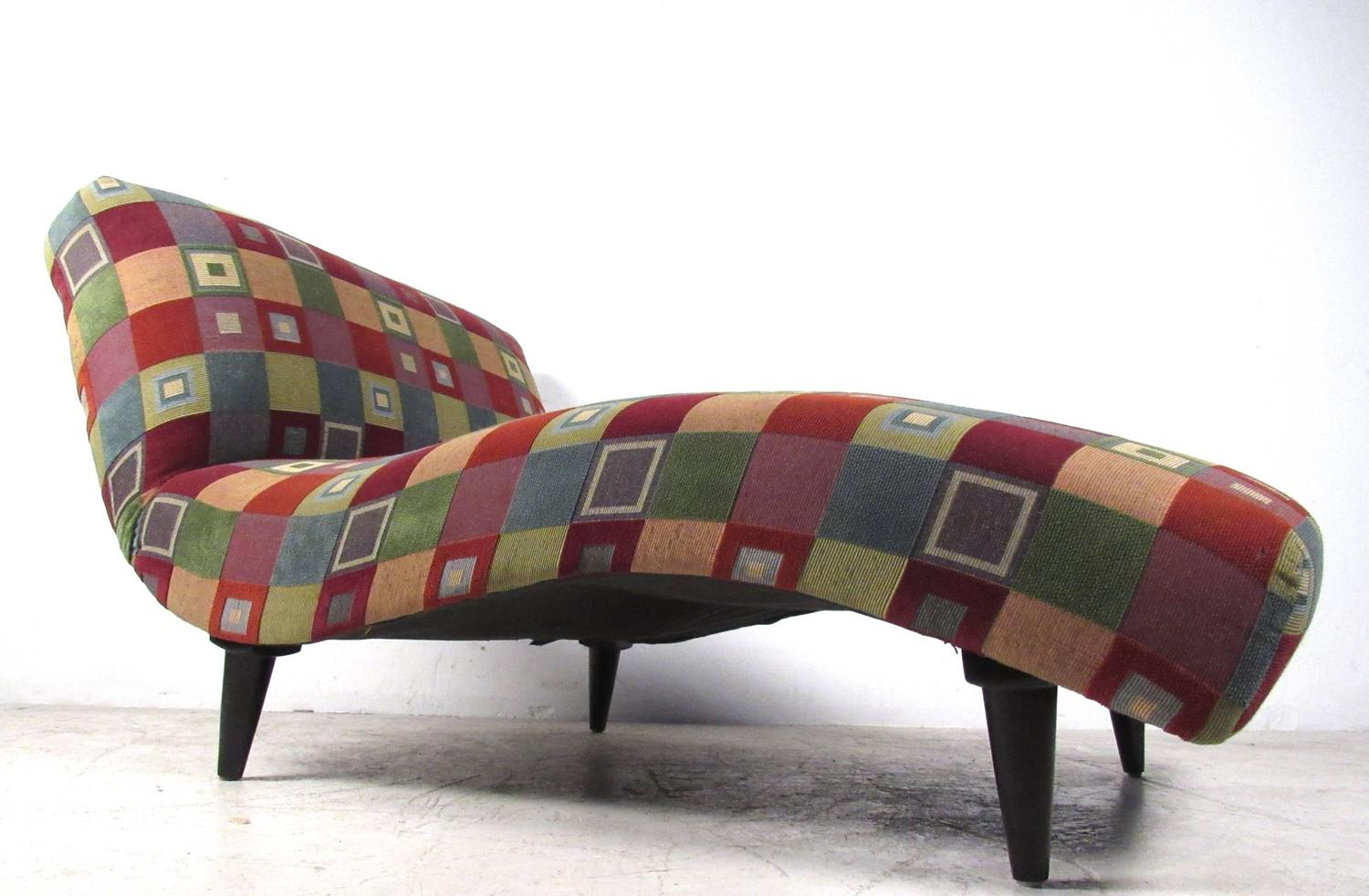 Mid century modern style chaise lounge for sale at 1stdibs - Mid century chaise lounge chair ...