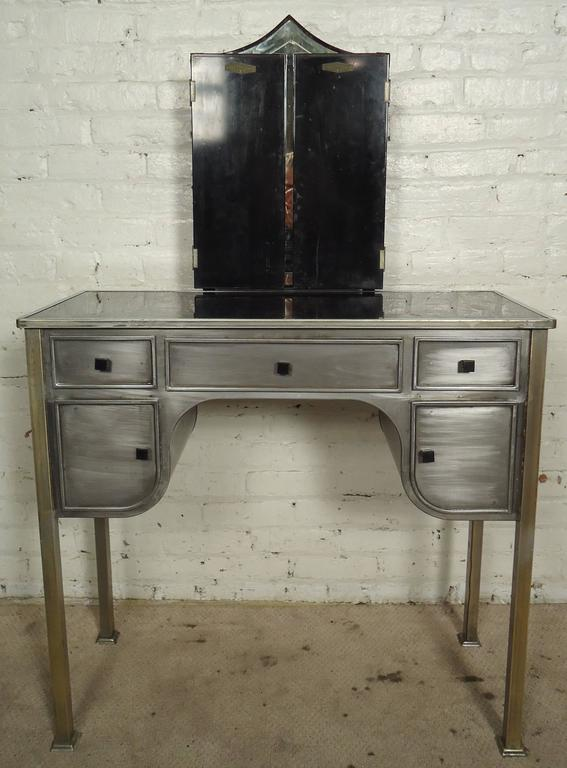 Mid Century Modern Midcentury Style Vanity Desk And Bench By United For