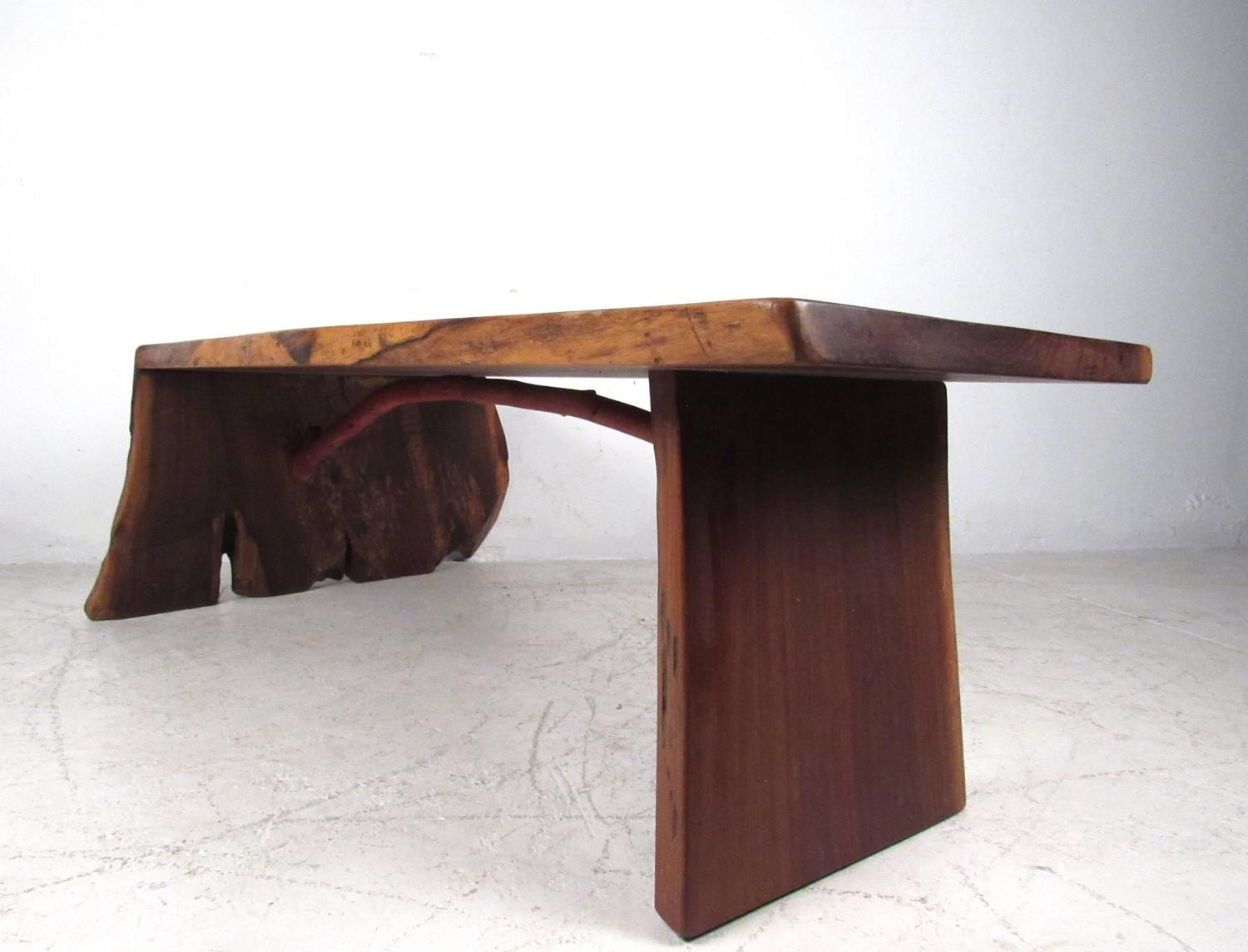 Unique Mid Century Modern Nakashima Style Free Edge Coffee Table For Sale At 1stdibs