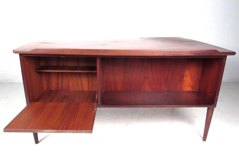 Stylish Mid-Century Modern Danish Teak Desk 4