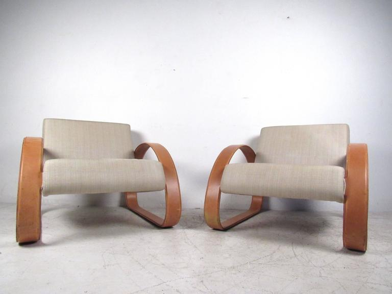 Pair Of Modern Italian Lounge Chairs By Armani Casa For