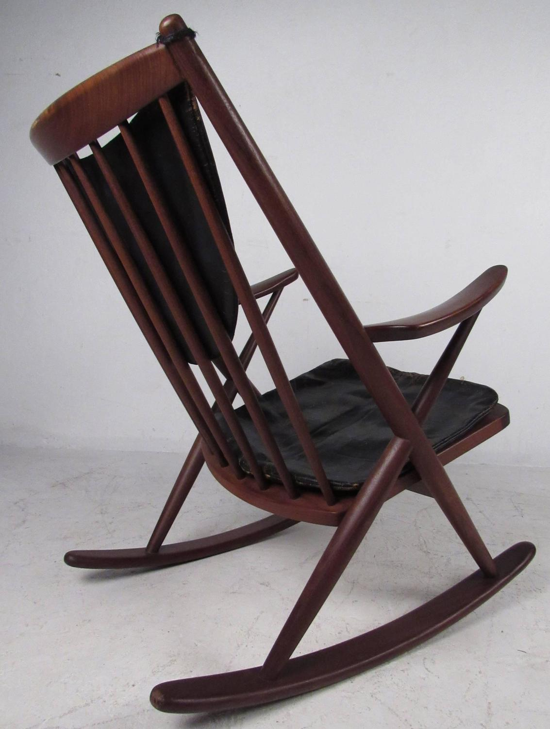 Midcentury Sculpted Rocking Chair For Sale at 1stdibs