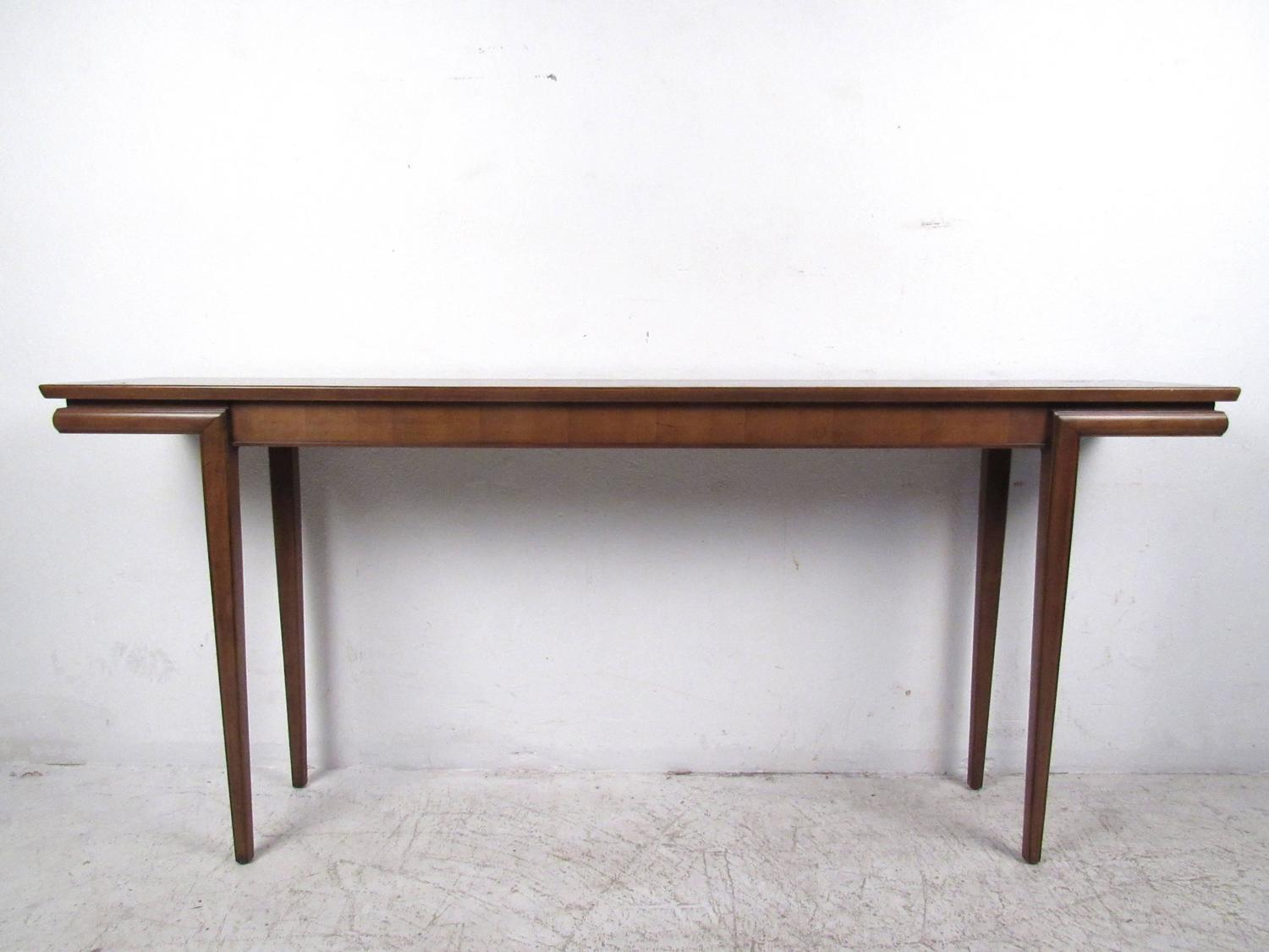 Mid century modern american walnut console table at 1stdibs for Sofa table modern