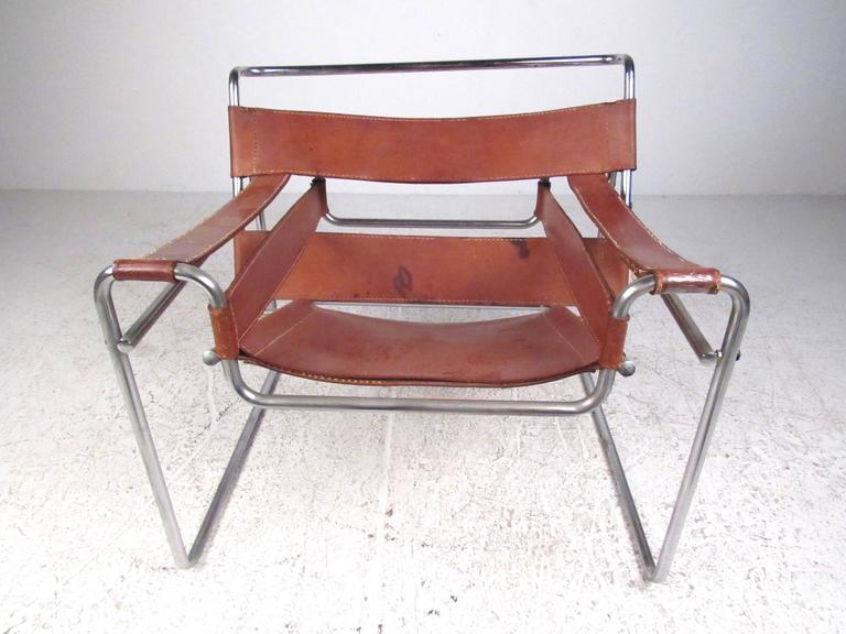 Fine Marcel Breuer Wassily Style Leather Strap Chair Cjindustries Chair Design For Home Cjindustriesco
