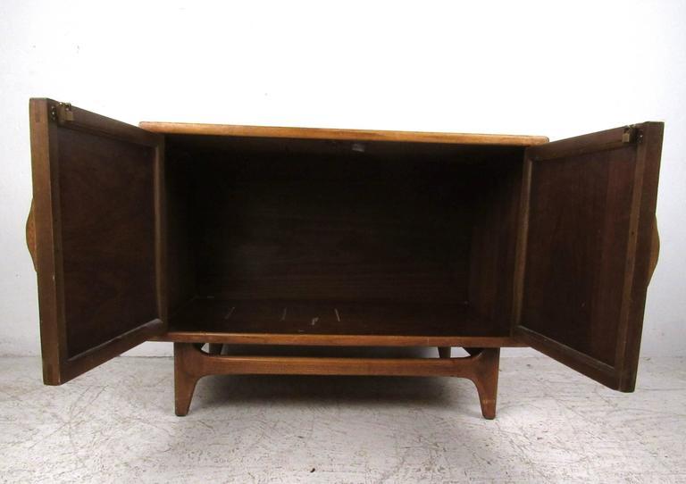 American Mid-Century Modern Basket Weave Cabinet by Warren Church for Lane For Sale