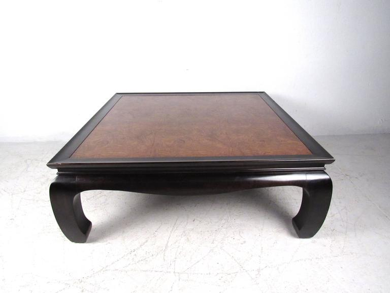 Burl Top Asian Style Tail Table