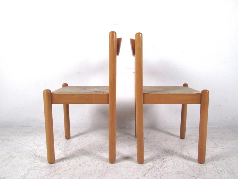 Italian Rush Seat Dining Chairs For Sale 1