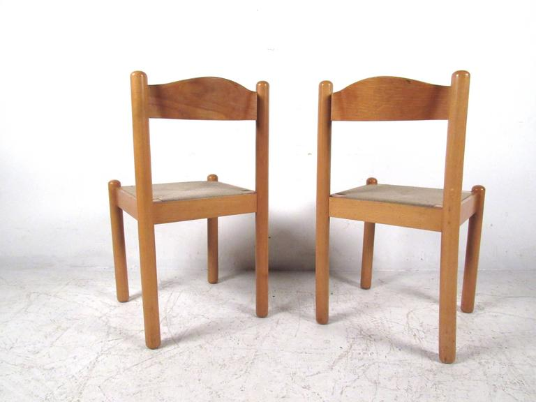 Italian Rush Seat Dining Chairs For Sale 2