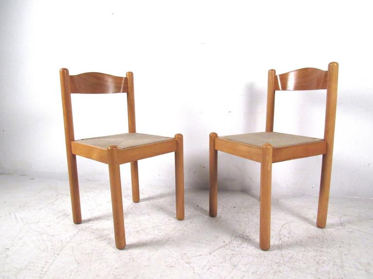 Italian Rush Seat Dining Chairs For Sale 3
