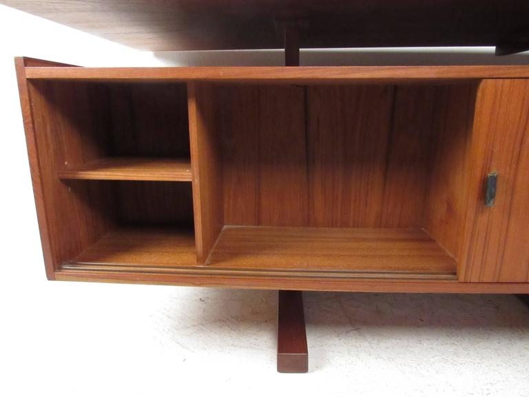 Vintage modern teak floating top desk for sale at 1stdibs for Floating desk for sale