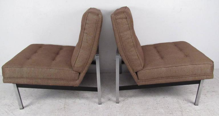 florence knoll parallel bar slipper chairs for sale at 1stdibs