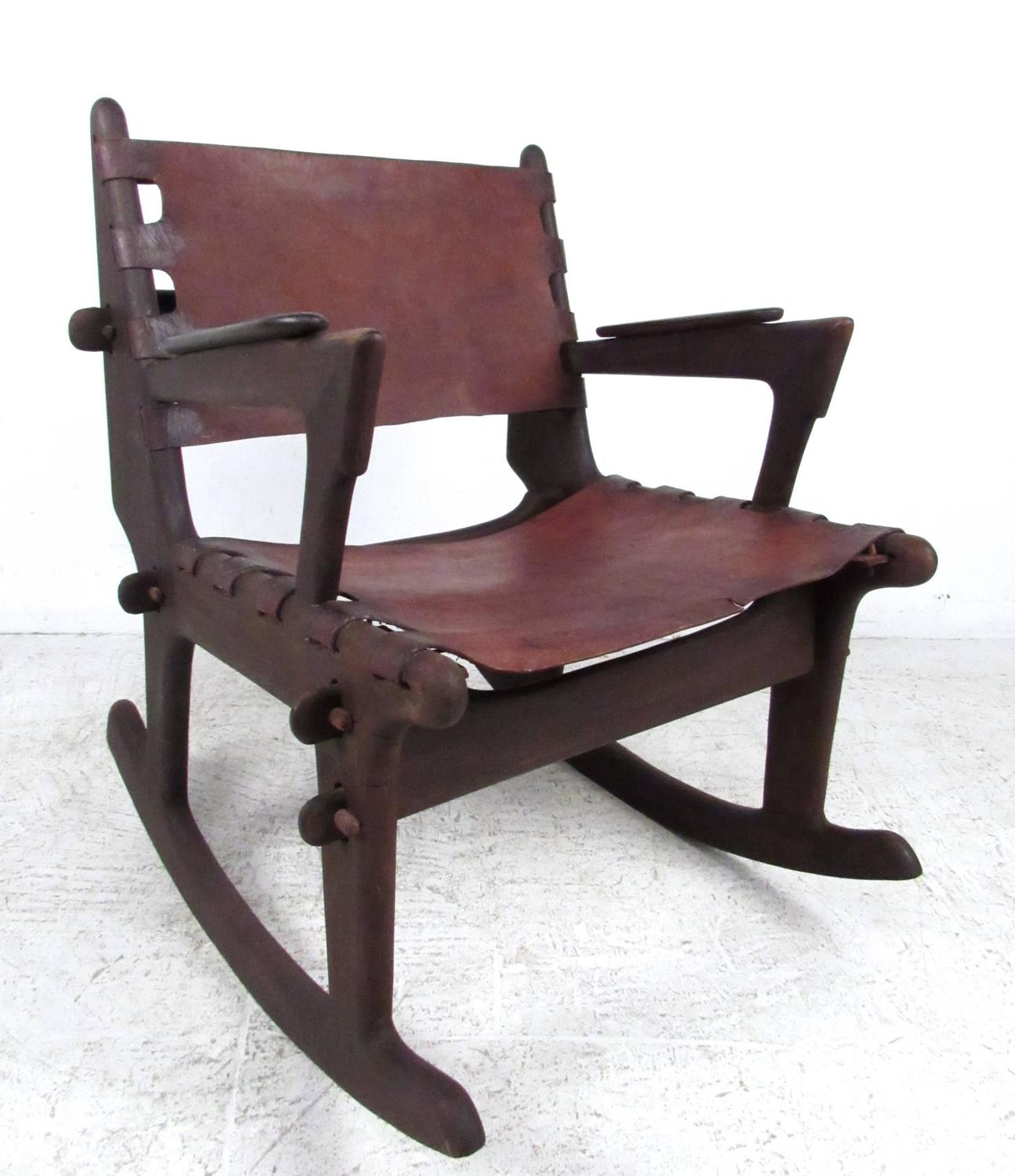 Mid-Century Primitive Style Rocking Chair after Don Shoemaker For Sale ...