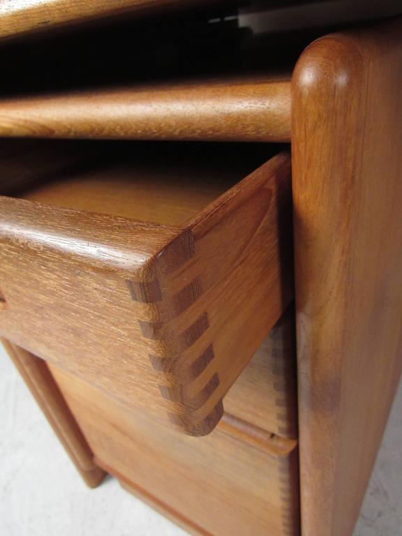 Teak Impressive Danish Modern Executive Desk For Sale