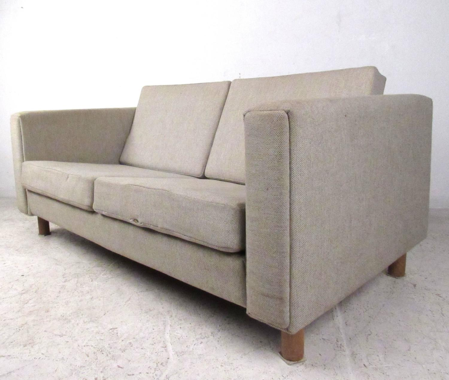 matching mid century modern sofa and loveseat by hans