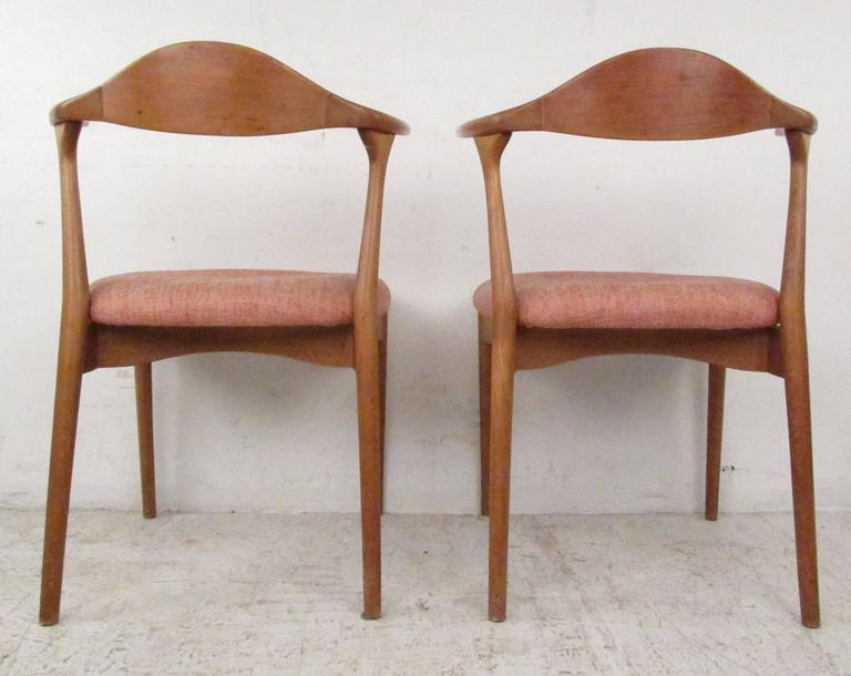 danish modern cow horn style dining chairs for sale at 1stdibs