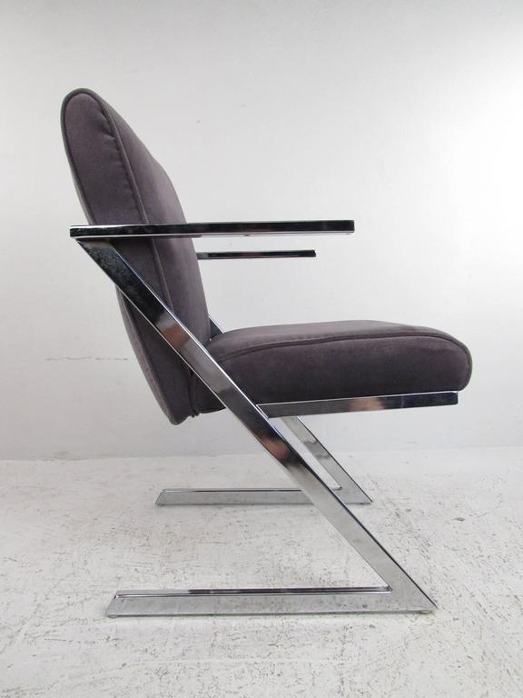 Mid-Century Modern Set of Four Dining Chairs by Milo Baughman for Design Institute of America For Sale