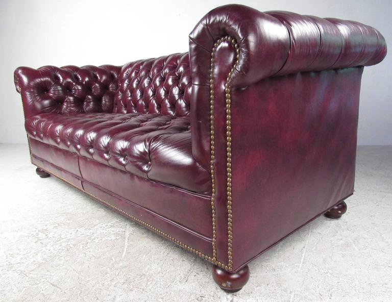 Charles X Pair of Leather Chesterfield Sofas