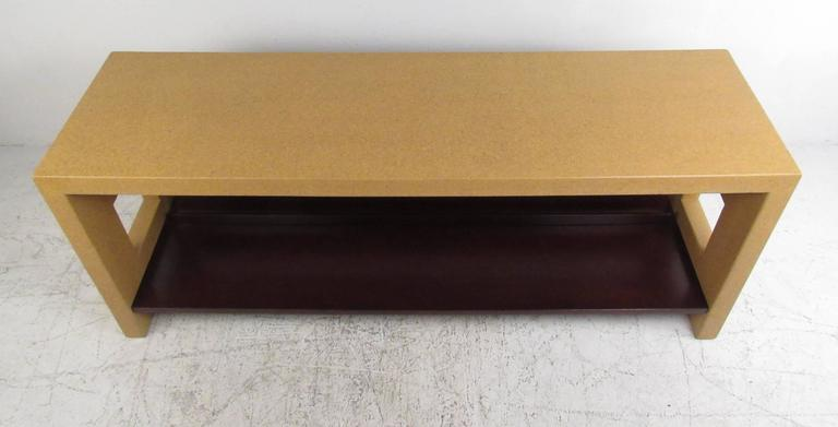 Mid-Century Modern Paul Frankl Console Table In Cork For Sale