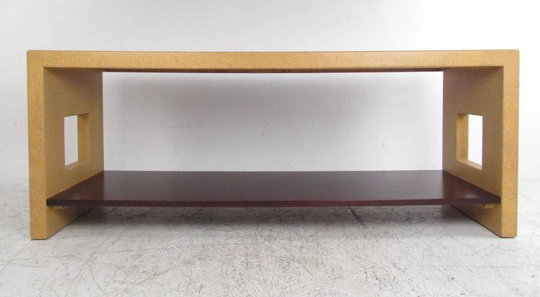 American Paul Frankl Console Table In Cork For Sale