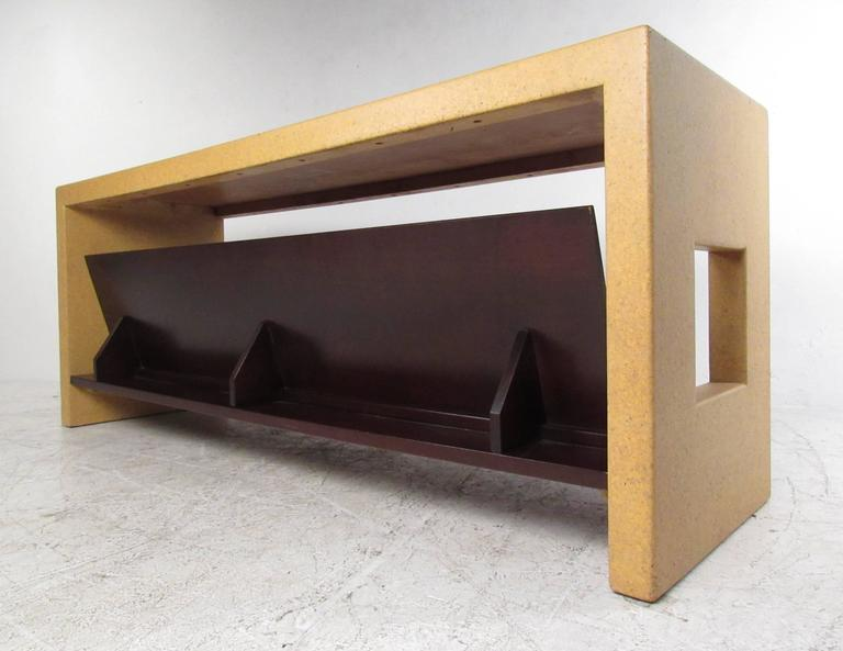 Paul Frankl Console Table In Cork In Good Condition For Sale In Brooklyn, NY