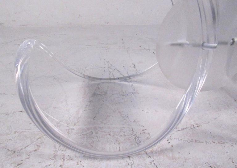 Mid-Century Modern Lucite and Glass Console Table 4