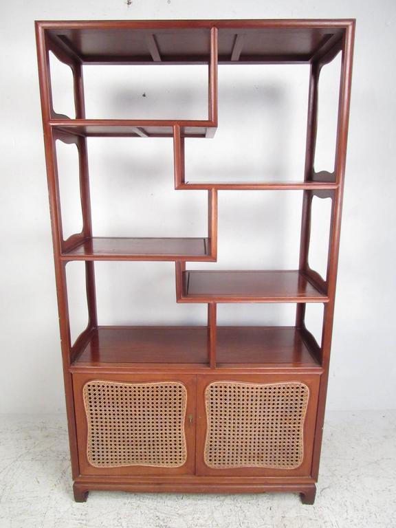 vintage modern asian influenced etagere display shelf for sale at 1stdibs. Black Bedroom Furniture Sets. Home Design Ideas