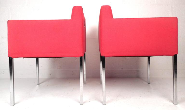 Late 20th Century Mid-Century Modern Club Chairs For Sale