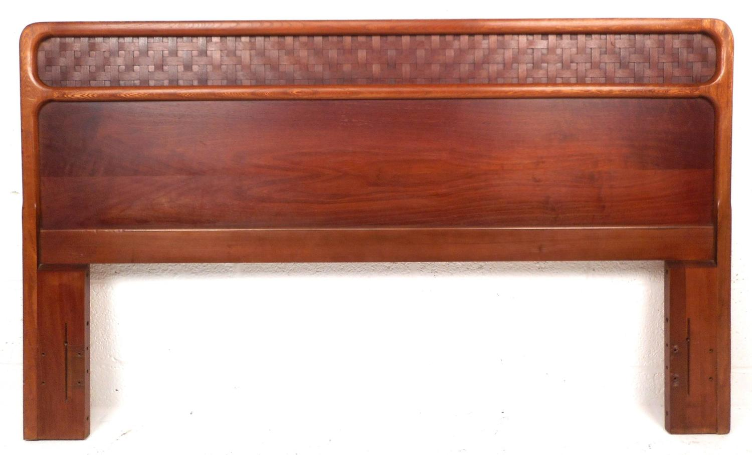 Mid Century Modern Queen Bed Headboard In The Style Of
