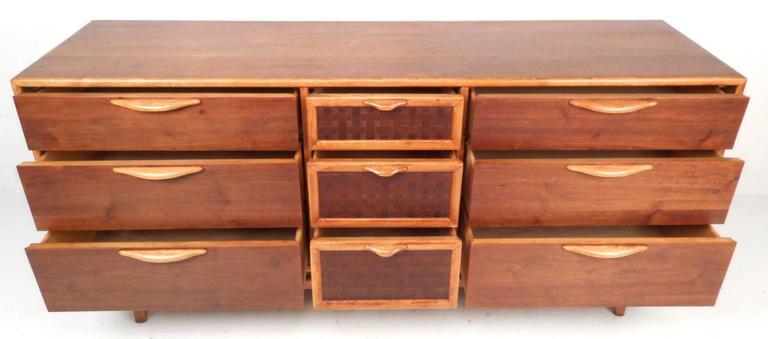 American Mid-Century Modern Walnut Dresser by Warren Church for Lane For Sale